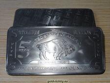 XL - 5 Once Titanio Lingotto bufali-American Buffalo Lingotto titanio titanium oncia once