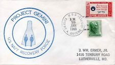 GEMINI 2 Titan II US Navy Recovery Force USS Eugene A Greene Space cover Rare !!