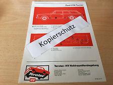 Ford Taunus 17 M Turnier, Terotex Hohlraumversiegelungsplan