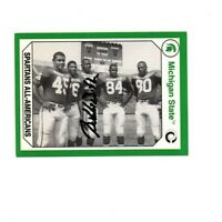 Bubba Smith Michigan State MSU Spartans football signed card DECEASED 1965 e