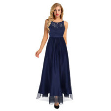 Sexy Women Bridesmaid Tulle Hollow Back Formal Dress Long Wedding Party Gown #12