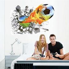 3D Soccer Ball Football Wall Sticker Decal Kids Room Decor Sport Boy Bedroom HOT