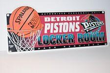 "Detroit Pistons 16"" X 8"" Locker Room Sign Wincraft Made in USA"