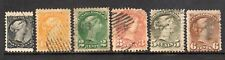1870-1889 Canada SC 34-39 Used Set of 6 - Regular Issue, Great Space Fillers!*