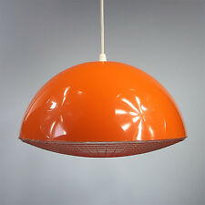 SUSPENSION VINTAGE PLASTIQUE PLASTIC PENDANT LAMP DESIGN POP UFO ANNÉES 60 70