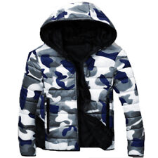 2018Men Winter Camouflage Warm Coat Cotton-padded Clothes Hooded Jacket Outwear