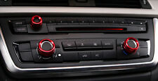 3pcs Red Air Condition knobs decorate circle cover trim For BMW X5 E70 2007-2013