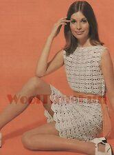 Vintage Crochet Pattern Lady's Dress/Tunic. 4ply