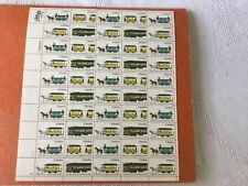 Vintage postage stamps-Streetcars-Sheet of 50