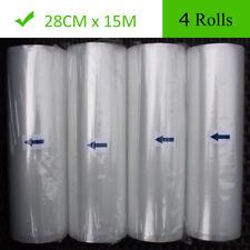 4 Roll 11X50 Food Saver Vacuum Sealer Bags Roll 4 mil FoodSaver Embossed Storage