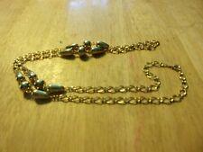 "Metal Marked Korea Necklace L@K! Vintage Jewelry 30"" L Gold-tone"