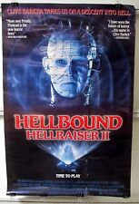 1988 New World Video Clive Barker's Hellbound Hell Raiser II Wall Poster Pinhead