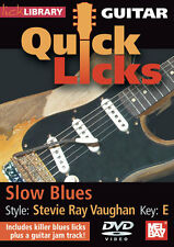 QUICK LICKS:SLOW BLUES GUITAR-STEVIE RAY VAUGHAN KEY-E DVD-NEW SEALED ON SALE!!