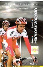 CYCLISME carte cycliste JULIEN HERVIO et ARNAUD GRANDJEAN équipe COFIDIS 2010