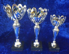 3 x Large Silver Cut Out Bowl Trophies Dance Performing Arts FREE Engraving