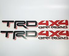 Toyota TRD 4x4 Off Road Tacoma Tundra decal sticker Set 2016-2018
