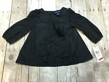 RALPH LAUREN POLO LS SHIRT BLACK BOW FRILLS GIRLS SIZE 24 MONTHS NEW WITH TAGS