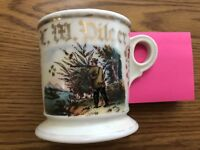 Antique Occupational Shaving Barber Mug O. Zimmerman Monmouth IL ILL