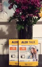 2 X ALDI TALK PREPAID STARTER SET inkl. 20 € Guthaben Tri-Sim NEU OVP