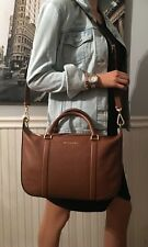NWT Michael Kors Raven Large Satchel Luggage Leather Handbag $368