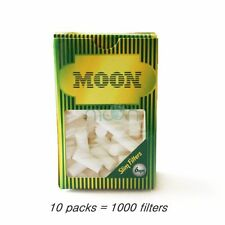 MOON cigarette filters 10 packs (1000 filters) 6mm
