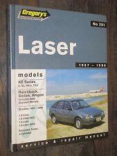 FORD Laser KE Series L GL GhiaTX3 1987-90 Car Service Repair Manual Gregory's