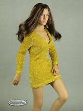 1/6 Scale Phicen, TB League, & NT Sexy Female Gold Glitter Mini Party Dress