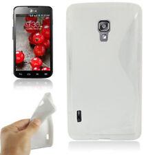 TPU Case Wave in weiß Schutzhülle für LG Optimus L7 II P710 Etui Hülle Cover