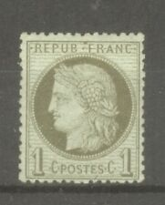 """FRANCE STAMP TIMBRE N° 50 """" CERES 1c VERT-OLIVE 1872 """" NEUF xx TTB"""