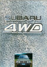 Subaru 1600 1800 4WD 1984 UK Market Sales Brochure Saloon Estate Hatchback MV