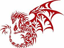 Dragon Tribal Mythical Creature Car Truck Window Laptop Vinyl Decal Sticker