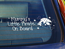 Static Cling Window Car Sign/Decal Mummys Little Pirate 100mm x 250mm 20