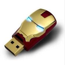 New Golden Ironman 8GB USB2.0 Flash Memory stick pen drive High Quality U-disk