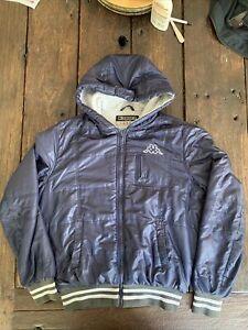 Vintage Kappa Navy Hooded Bomber Thick Jacket / Coat Size Large Mens