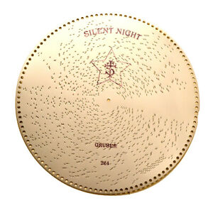 """SET OF 10 NEW MIRA 18.5"""" MUSIC BOX DISKS INCLUDES """"SILENT NIGHT"""""""