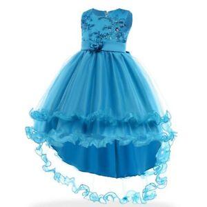 Dresses flower dress kid wedding party bridesmaid tutu girl princess baby formal