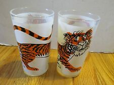 "Vintage Promo ESSO Gasoline & Oil Company TIGER 5"" (Pair of 2) Glasses"