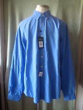 "Mens Ralph Lauren Solid Medium Blue LS Classic Shirt NWT $89.50 XXL 2XL 38"" SL"