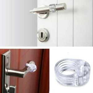 5pcs Wall Protector Door Handle Stop Rubber Bumper Door Guard Clear New Hot