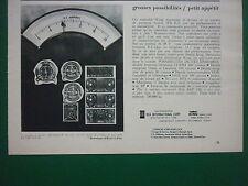 1960'S PUB KING RADIO IFR/ILS AVION AIRCRAFT EMETTEUR RECEPTEUR FRENCH AD