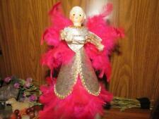 Vintage Angel Tree Top Topper Christmas  Holt Howard Pink Feather Porcelain Head