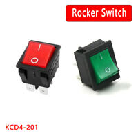 Rocker Switch With Red/Green Light KCD4-201N 4 Pin ON/OFF 2 Position 16A/250V