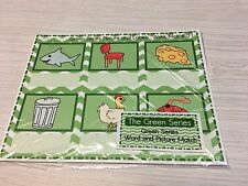 The Green Series - Pictures And Word Label Work mats - Montessori