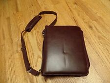 Day-Timer Burgundy Faux Leather (?) Planner with Crossbody Strap Classic VGUC