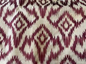 John Lewis Furnishing Fabric Amira Mulberry 1.3 Metres £11