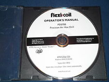 CASE FLEXI COIL PD5700 AIR HOE DRILL OPERATION & MAINTENANCE BOOK MANUAL CD