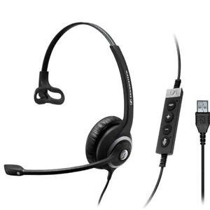 NEW! Sennheiser SC230 USB MSII Monaural Headset Black 506482