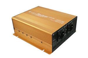 Spannungswandler Wechselrichter 2000 4000 Watt 12V Power USB 2.1A reiner Sinus G