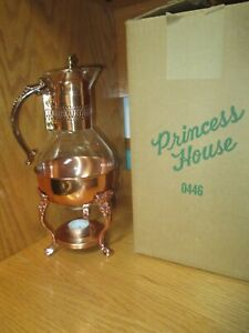 Vintage Princess House #0446 Heritage Copper Coffee/Tea Carafe with Stand
