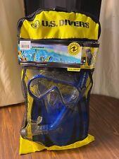 US Divers Explore Adult Caspian Snorkeling Set, Blue, S/M Fins, Mask, Snorkel